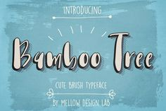 Bamboo Tree is a lovely Display Font. It's hand lettered and modern font.