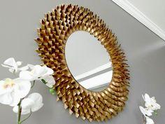 espejo de papel cardboard paper mirror