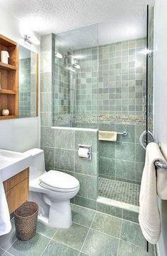 Small bathroom renovations 208995238946728183 - Top Modern Bathroom Shower Ideas For Small Bathroom Source by Small Bathroom With Shower, Bathroom Design Small, Bathroom Layout, Bathroom Interior Design, Modern Bathroom, White Bathroom, Hall Bathroom, Simple Bathroom, 1950s Bathroom
