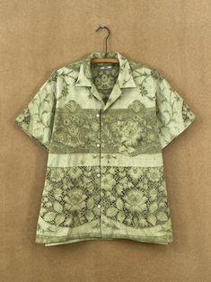 Pistachio Lace Shirt - L/XL – BODE New York Thread Chains, Fashion Textiles, Pistachio, Men Casual, York, Lace, Shirt, Sleeves, Mens Tops