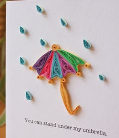 Under my Umbrella Card  Unique Greeting Card  by SweetSpotCardShop, $8.00