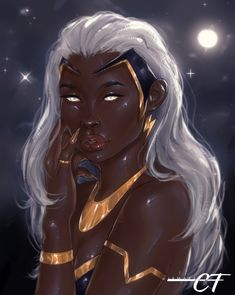 Ororo Munroe by Ismael Carlos Black Girl Cartoon, Black Girl Art, Black Women Art, Black Girl Magic, Comic Books Art, Comic Art, Storm Marvel, X Men Personajes, Black Anime Characters
