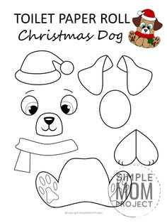 Click now to print your FREE Christmas dog template and make this easy, cute and fun toilet paper roll craft. Christmas Activities, Christmas Crafts For Kids, Christmas Dog, Xmas Crafts, Christmas Decorations, Christmas Paper, Dog Crafts, Toddler Crafts, Animal Crafts
