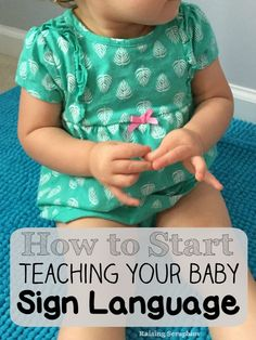 Finally a guide for starting Baby Sign Language. Simple 5 steps to get going without being overwhelmed. Simple and easy! Baby tips Teaching Babies, Baby Learning, Learning Asl, Public School, Foto Newborn, Baby Development, Development Milestones, Everything Baby, Baby Time