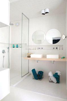 Trend badkamer glazen deur