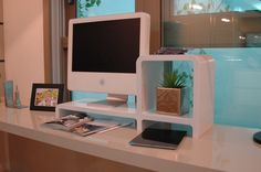 Monitor stand and Storage Cubby