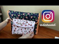 Como fazer uma pasta sanfonada - YouTube Country Quilts, Quilted Bag, Couture, Fabric Crafts, Diy And Crafts, Craft Projects, Sewing Patterns, Patches, Knitting