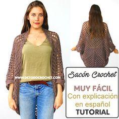 Cómo Tejer un Sacón Crochet Punto Granny / Paso a paso | Todo crochet
