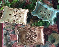 Soap Dish by GreenParrotPottery on Etsy