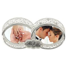 Look what I found on Double Wedding Ring Two-Photo Frame by Malden Double Wedding Rings, Platinum Wedding Rings, Wedding Bands, Two Photo Frame, Picture Frames, Picture Ideas, Crown Cutout, Wedding Ring Pictures, Wedding Ideas