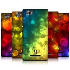 HEAD CASE DESIGNS BOKEH PATTERN BACK CASE COVER FOR SONY XPERIA M C1905 C1904