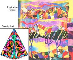 Student's Color Inspiration Picture with Cane (Lori) by It's all about color, via Flickr