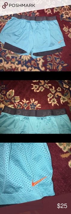 Nike Dri-fit runners shorts Only worn once!  Very nice Nike dri-fit shorts.  They are so soft! Nike Shorts