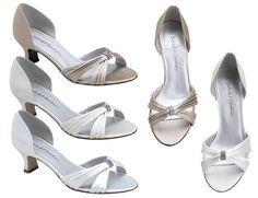 Short Heels Sandals | Wedding Shoes - Formal Colorful Creations Dixie Low Heel Wedding Shoes ...