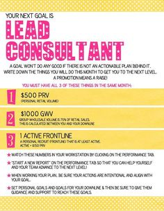 Your next goal: LEAD consultant! Place Your Order Today at: http://Bethyoung.Scentsy.us