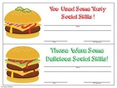 Work on social skills in a delicious way! This packet will have your students hungry to use their good social skills. There are activities for: Problem Solving, Expected and Unexpected Behaviors, and Perspective Taking. #slp #speechtherapy