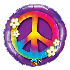 Celebrate Earth Day with Peace Sign Balloons Add Tie Dye Confetti to your themed party. Each bag holds 50 Latex Balloons. Peace Sign Balloons are Qualatex Party City Balloons, Mylar Balloons, Latex Balloons, Balloon Party, Balloon Toys, Peace Sign Birthday, Spa Birthday Parties, 8th Birthday, Mariage