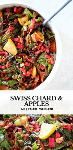 Paleo Side Dishes, Vegetable Sides, Vegetable Side Dishes, Side Dish Recipes, Vegetable Recipes, Rainbow Chard Recipes, Swiss Chard Recipes, Vegetarian Recipes, Cooking Recipes