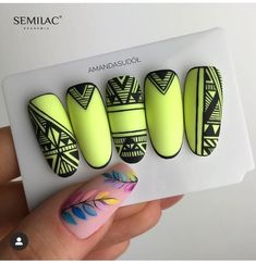 Aztec Nails, Chevron Nails, Love Nails, Pretty Nails, Get Nails, Nail Art Designs Videos, Nail Designs, Sculpted Gel Nails, Nautical Nails