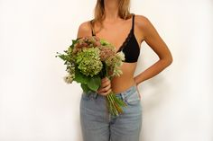 Delicate soft bra with minimal design and fine trimming. Manufactured with care from high quality cotton and fine French lace. Soft Bra, Nalu, French Lace, Minimal Design, Chelsea, Underwear, Camisole Top, Lingerie, Tank Tops