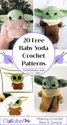 20 Unique Baby Yoda Crochet Pattern Free - Crochet Me Disney Crochet Patterns, Crochet Disney, Crochet Amigurumi Free Patterns, Crochet Animal Patterns, Crochet Stitches Patterns, Cute Crochet, Crochet Hats, Star Wars Crochet, Little Doll