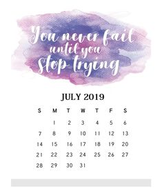 Hottest Free monthly calendar july Style From work deadlines to family happenings and random reminders, Calendar is what keeps me on the righ Calendar 2019 Printable, July Calendar, Custom Calendar, Monthly Calendar Template, Calendar Quotes, Monthly Quotes, Calendar Ideas, Tumblr, Personality Words