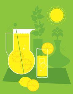 Retro Lemonade Illustration