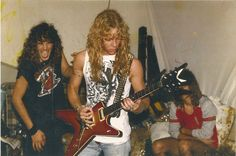 james hetfield rick e warden with terry glaze in the background in