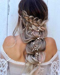 33 Wedding Updos With Braids ❤ wedding updos with braids elegant volume half up half down alexandralee1016 #weddingforward #wedding #bride #weddingupdoswithbraids #weddinghair