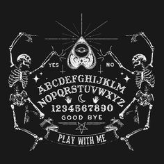 Ouija - play with me Wiccan, Magick, Pagan, Occult Art, Witch Art, Arte Horror, Gothic Horror, Witch Aesthetic, Book Of Shadows