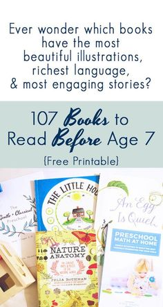107 Books to Read Before Age 7 (FREE Printable List!) — Life, Abundantly - Home Cleaning Schedule For Working Moms Homeschool Books, Homeschooling, Homeschool Curriculum, Homeschool Worksheets, Kindergarten Curriculum, Writing Worksheets, Long Books, Kid Books, Library Books