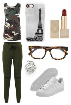 """""""Sans titre #1498"""" by merveille67120 ❤ liked on Polyvore featuring Sans Souci, adidas Originals, Casetify, STELLA McCARTNEY, Michael Kors and Burberry"""
