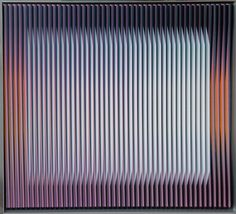 """Physichromie 1301"" by Carlos Cruz-Diez (1996) #CarlosCruzDiez #CruzDiez #contemporaryart #contemporary #kinetic #art #opart #visualart"