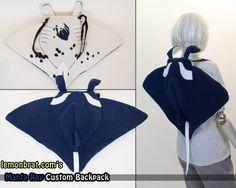 Manta Ray Custom Backpack by lemonbrat.deviantart.com on @DeviantArt