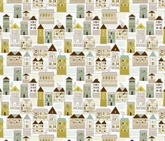 urban pattern fabric by inbirdhouse on Spoonflower - custom fabric Wall Patterns, Pretty Patterns, Beautiful Patterns, Background Patterns, Textures Patterns, Pattern Fabric, Pattern Paper, Pattern Art, Textiles