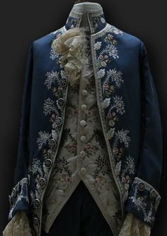 Embroidered coat and vest. 18th century. Gorgeous.
