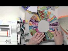 String Piecing on a Curve: Candy Ring Block - YouTube