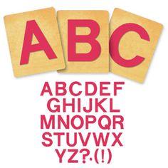 Block Alphabet, Capital Letters - 1 1/4 Inch; IMC Die Cut in Carousel