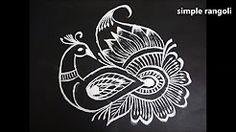 peacock rangoli - YouTube