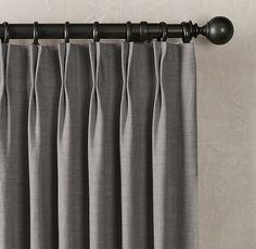 Belgian Heavyweight Textured Linen Drapery - French-Pleat
