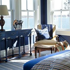 Blue and Tan Bedroom Decorating Ideas. 21 Blue and Tan Bedroom Decorating Ideas. Coastal Bedrooms, Coastal Living Rooms, Coastal Homes, Coastal Decor, Les Hamptons, Beach House Decor, Home Decor, Beach Houses, Luxury Interior Design