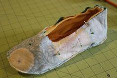 Como hacer pantuflas de tela
