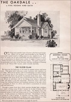 Bungalow Floor Plans in the Sears Catalog, 1915 to 1917: Modern ...