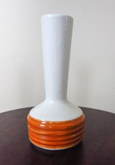 Vintage Haeger Pottery 280 Cream and Orange Bud by ProjectWaverly, $5.00