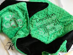 Sports Blanket  Personalized baby blanket  Kelly by KnuffelStuff