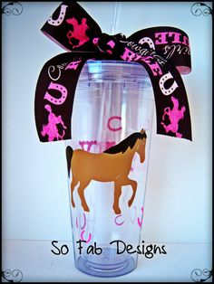 customized Acrylic 20 oz Rodeo Cowboy Horse Cup by SoFabDesigns, $18.00