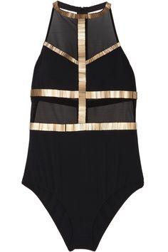 Sass & bide|Off The Cuff embellished mesh bodysuit - GBP530|NET-A-PORTER.COM