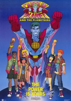 Leonardo DiCaprio to Take Pollution Down to Zero with CAPTAIN PLANET Movie. I was just joking about this, didn't know it was a reality! Leonardo Dicaprio, Retro Cartoons, Classic Cartoons, 90s Childhood, My Childhood Memories, Sweet Memories, Captain Planet Movie, Love The 90s, Back In My Day
