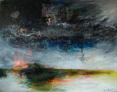 """Saatchi Online Artist: Denis Blondel; Mixed Media, 2011, Painting """"Paysage n°38"""""""