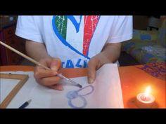 ▶ Quadretti con tecnica batik - YouTube